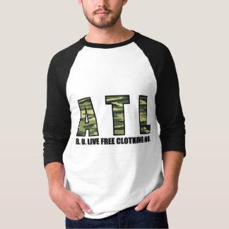 """独占記事!! B.U.L.F. """"ATL迷彩柄""""の野球のワイシャツ Tシャツ"""