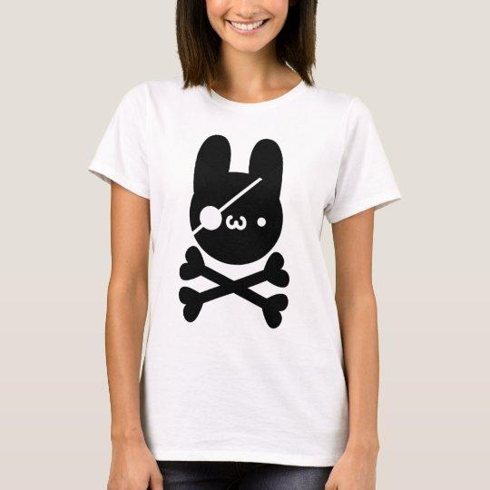 独眼竜もにゅ?ウサギ髑髏 Tシャツ