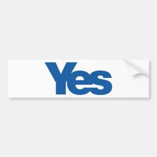 独立したスコットランドへのYes バンパーステッカー
