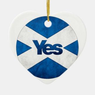 独立したスコットランド「アルバSaorへのYesはBragh行きます セラミックオーナメント