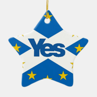 独立したヨーロッパ人スコットランドへのYes セラミックオーナメント