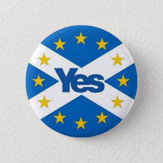 独立したヨーロッパ人スコットランドへのYes 缶バッジ