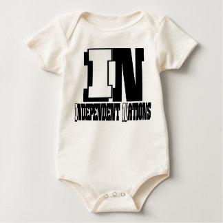 独立した国家(幼児) ベビーボディスーツ