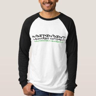 独立したLAWNCAREのウェブサイトのロゴの長袖 Tシャツ
