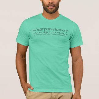 独立したLAWNCARE COのライムの顧客のTシャツ Tシャツ