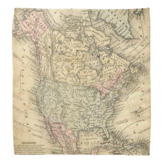 独立の前の北アメリカのヴィンテージの地図 バンダナ