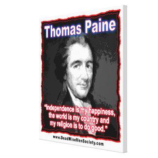 独立または幸福についてのトマス・ペインの引用文 キャンバスプリント