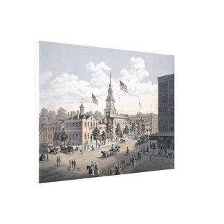 独立ホールフィラデルヒィア1876年 キャンバスプリント