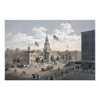 独立ホールフィラデルヒィア1876年 ポスター