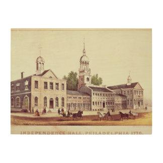 独立ホール、フィラデルヒィア ウッドウォールアート