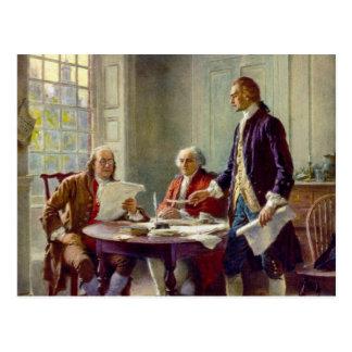 独立宣言の執筆 ポストカード