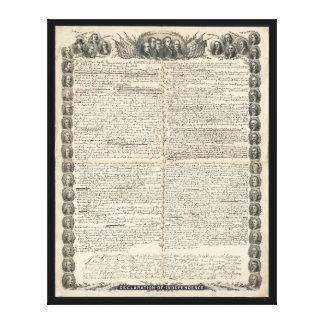 独立宣言の第一草稿 キャンバスプリント