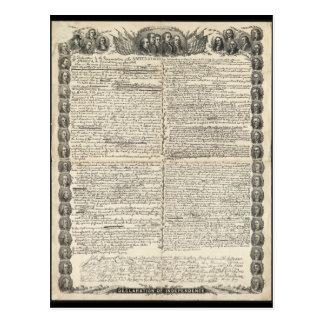 独立宣言の第一草稿 ポストカード