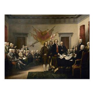 独立宣言の署名 はがき