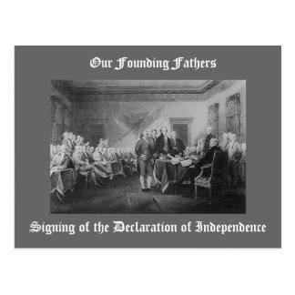 独立宣言の署名 ポストカード