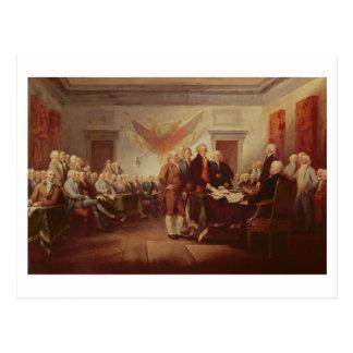 独立宣言の署名、第4 葉書き