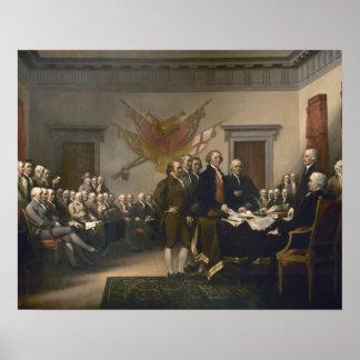 独立宣言の署名、7月4日 ポスター