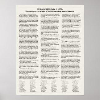 独立宣言。 教室ポスター ポスター