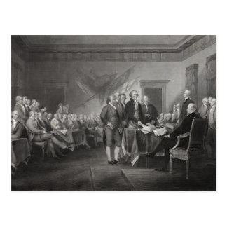 独立宣言 葉書き