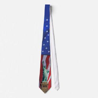独立記念日のお祝いのタイ自由の女神 ネクタイ