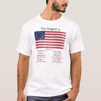 独立記念日のオリジナル13のコロニーのTシャツ Tシャツ