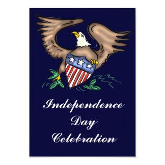 独立記念日のパーティの招待状 カード