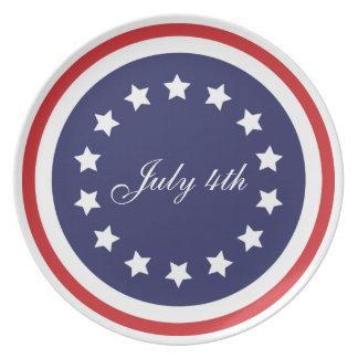 独立記念日の愛国心が強いプレート プレート