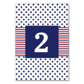 独立記念日の愛国心が強い結婚式のテーブル数 カード