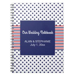 独立記念日の愛国心が強い結婚式のノート ノートブック