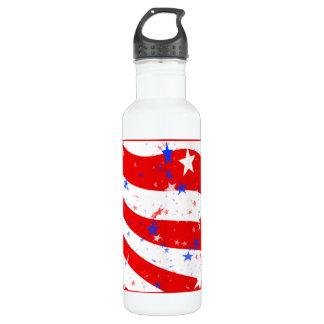 独立記念日の曲げられた星条旗 ウォーターボトル