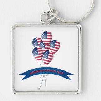 独立記念日は金属Keychainを風船のようにふくらませます キーホルダー