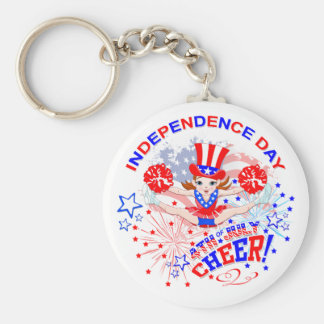 独立記念日は、7月4日、キーホルダーを元気づけます キーホルダー