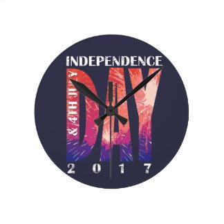 独立記念日及び7月4日米国 ラウンド壁時計