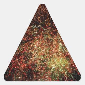独立記念日 三角形シール