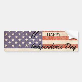 独立記念日-幸せな第4 (第4) 7月 バンパーステッカー