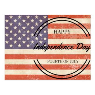 独立記念日-幸せな第4 (第4) 7月 ポストカード