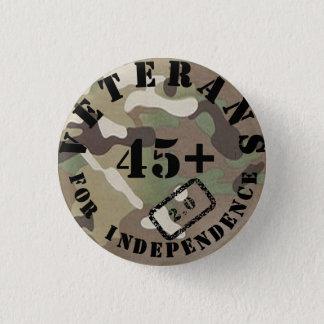 独立2.0迷彩柄のバッジのための退役軍人 3.2CM 丸型バッジ