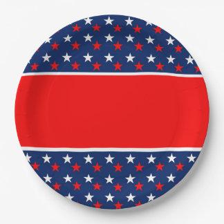 独立7月4日のパーティーの紙皿 ペーパープレート