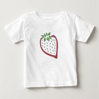 独身のでかわいいいちごのワイシャツ ベビーTシャツ