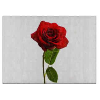 """""""独身ので赤いバラ""""のデザインのまな板 カッティングボード"""