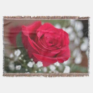 独身ので赤いバラ スローブランケット