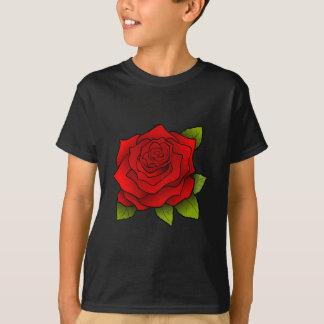 独身ので赤いバラ Tシャツ