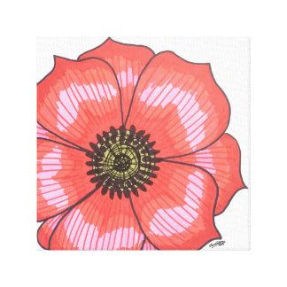 独身ので赤い花 キャンバスプリント