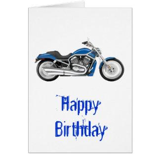 独身ので青いオートバイ カード
