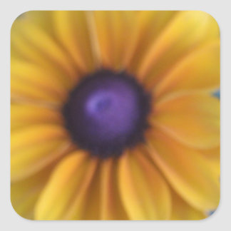 独身ので黄色い花 スクエアシール