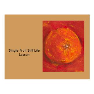 独身のなフルーツの静物画の芸術のレッスン ポストカード