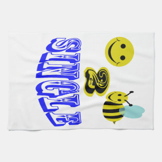 独身のな幸せな2蜂 キッチンタオル