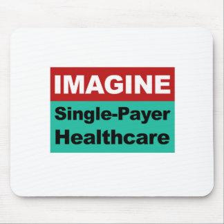 独身のな支払人のヘルスケアを想像して下さい マウスパッド