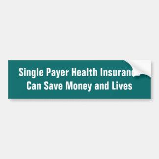 独身のな支払人の健康保険は…お金を貯めることができます バンパーステッカー