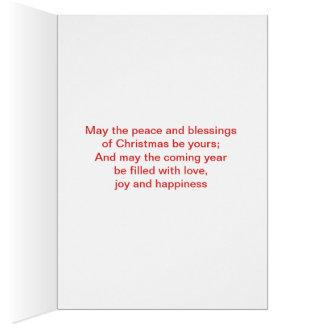 独身のな木との幸せな休日Chirstmas カード